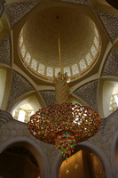 Lustre da Grande Mesquita / Chandelier inside of the the Great Mosque - Abu Dhabi