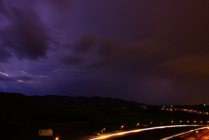 Raios sob a rodovia - Lightning over the highway